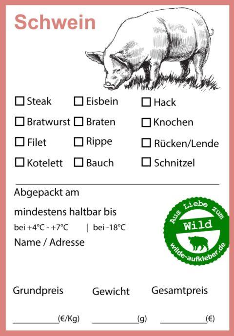 Schwein Tiefkühl Aufkleber wilde aufkleber